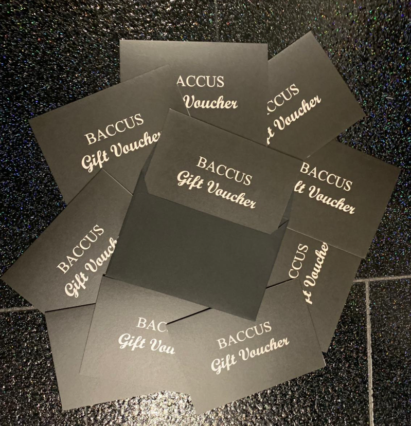 Baccus gift voucher - the perfect gift for men & women