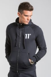 11Deg Core Zip Hoody Black