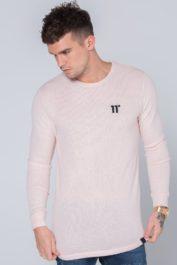 11Deg long sleeve knit pink