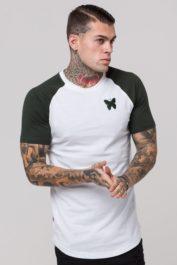 GFN White Khaki Raglan T-Shirt White