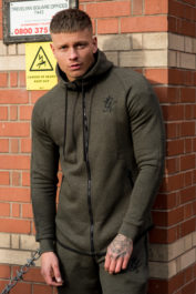 Gym King 9852 Salt N Pepper Hoody Olive