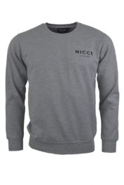 Nicce London Chest Logo Sweat Grey