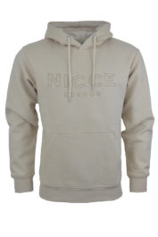 Nicce London Tonal Applique Hood Stone