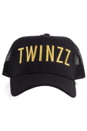 Twinzz 3D Mesh Trucker Cap Black gold logo