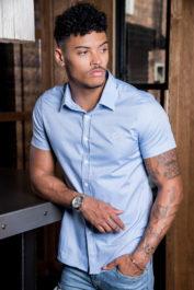 Gym King 9852 Shirt SS Blue 1