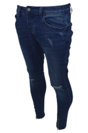 Project Paris Front Zip 9966 Jeans Blue