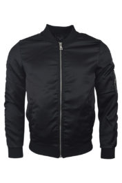 Project Paris Satin Bomber Black