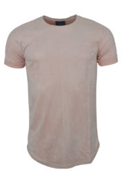 Project Paris Suede Brand Carrier tee Pink
