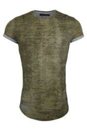 Religion 92045 Crack Roll Tee Khaki