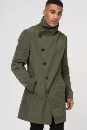 Religion Nord Assymertic Coat Khaki