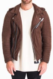 The Couture Club Biker Jacket Brown