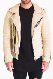 The Couture Club Biker Jacket Sand