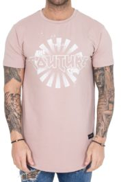 The Couture Club TCC Sun Logo Tee Dusty Pink
