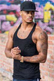 Gym King Stringer Vest Black