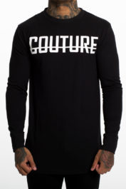 Fresh Couture Large Logo LS Tee Black