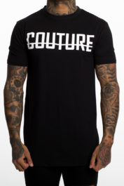 Fresh Couture Large Logo Tee Black