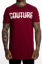 Fresh Couture Large Logo Tee Burgundy