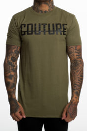 Fresh Couture Large Logo Tee Khaki