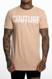 Fresh Couture Large Logo Tee Sand