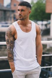 Gym King Tank Vest White 2
