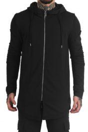 Project Paris long rip pleat jacket black