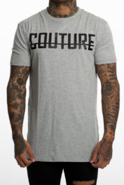 Fresh Couture Large logo tee Grey