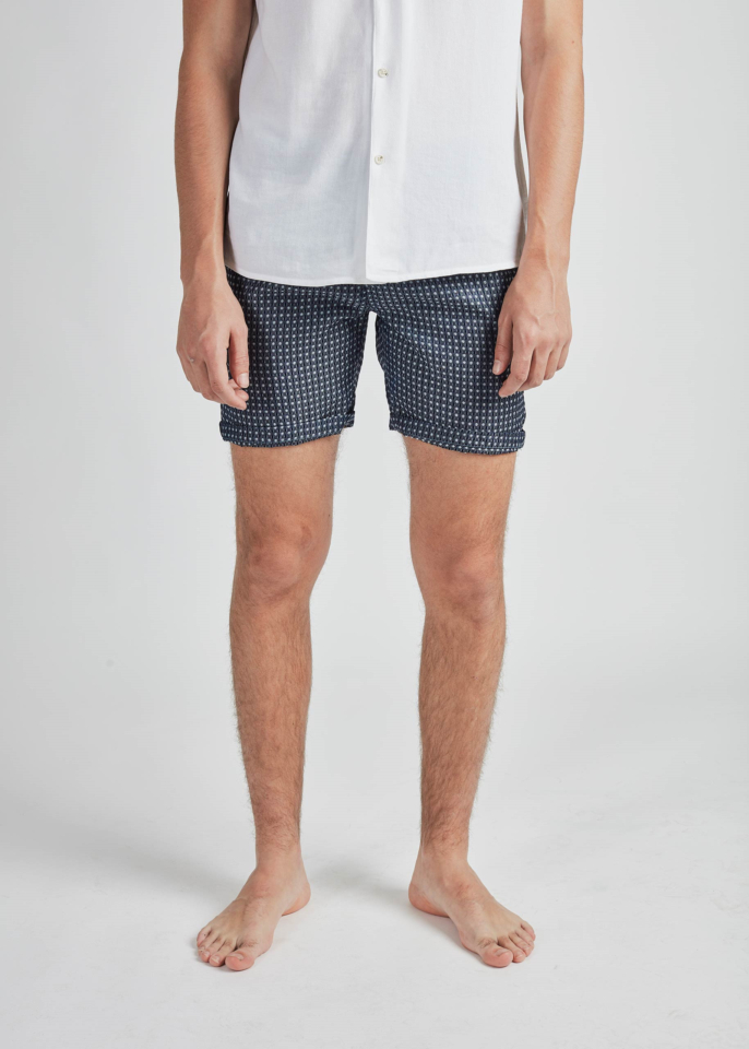 Pearly King – Flare Shorts – Blue