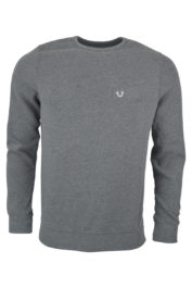 True Religion Crew Fleece Metal Horseshoe sweat Grey