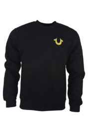 True Religion Gold Horseshoe Sweat Black