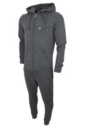 True Religion Hooded Horseshoe Tracksuit Grey