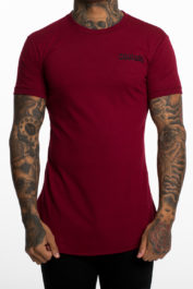 Fresh Couture Small Logo Tee Burgundy