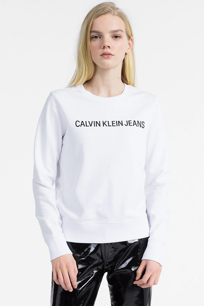 Calvin Klein – Institutional Logo Sweat – White