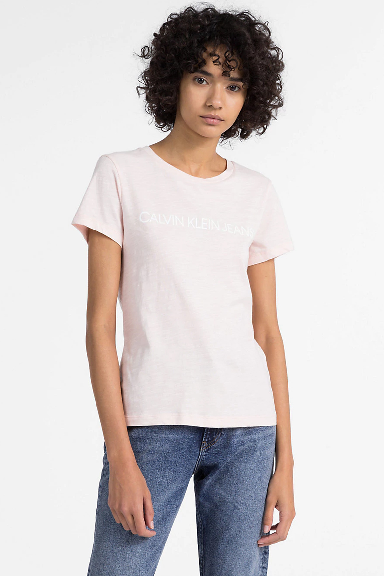 Calvin Klein – Institutional Logo Tee – Rose