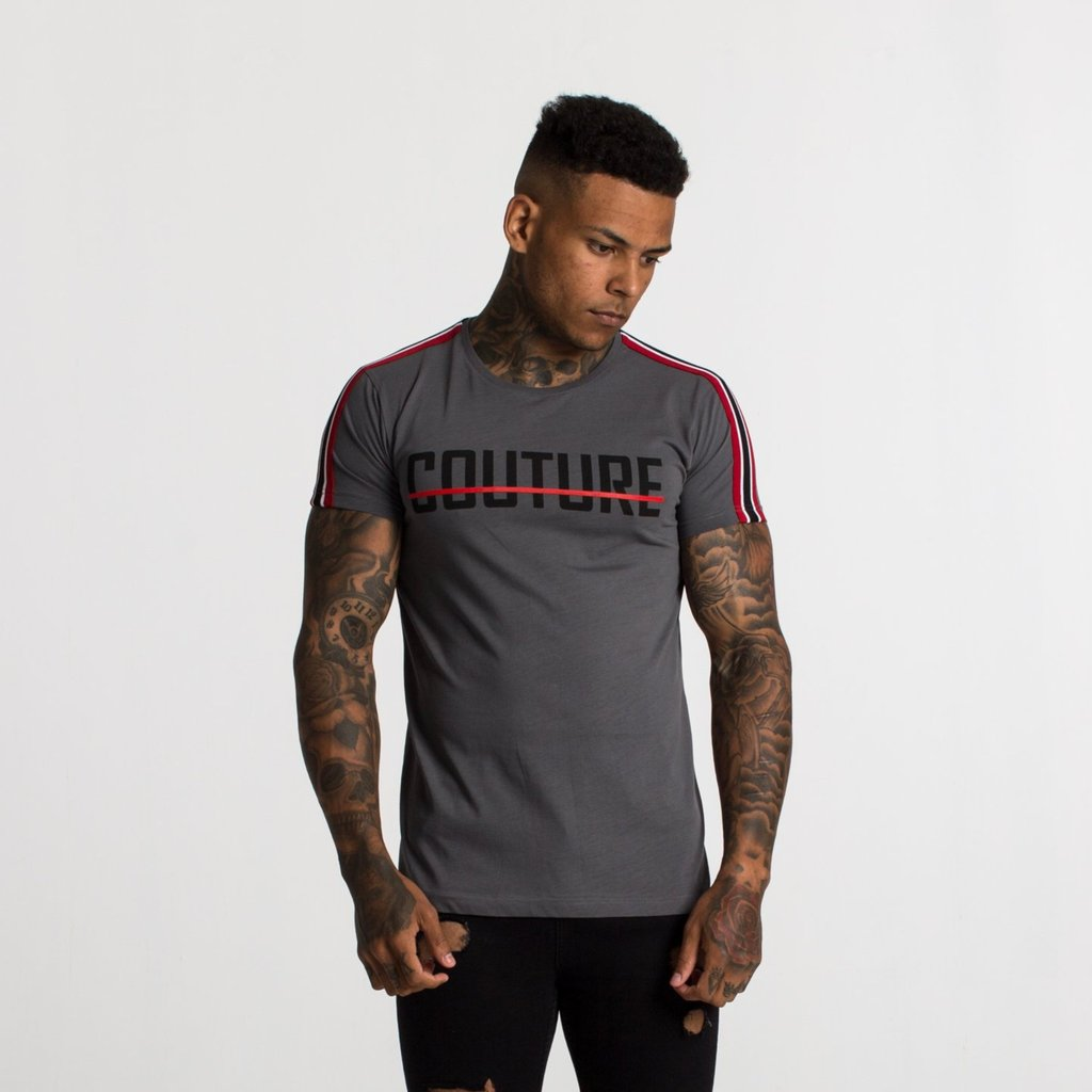 Fresh Couture – Taped Tee – Steel