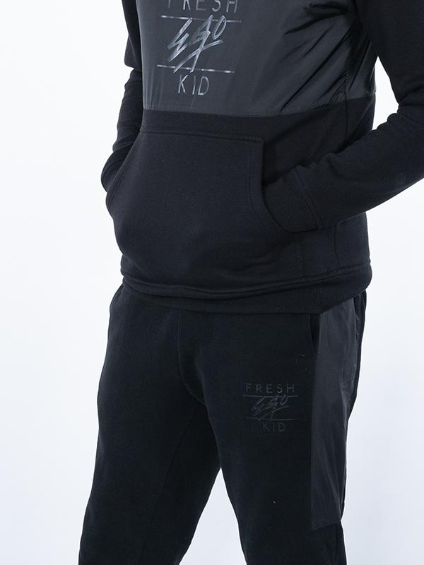 Fresh Ego Kid – Half Zip Joggers – Black
