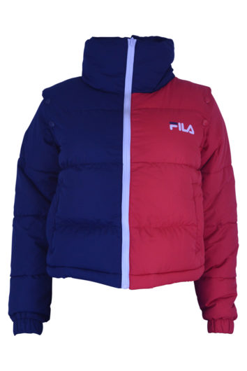 Fila - Martina Crop Puffa Jacket - Navy/Red