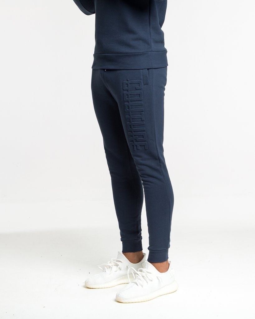 Fresh Couture – Embossed Jogger – Blue