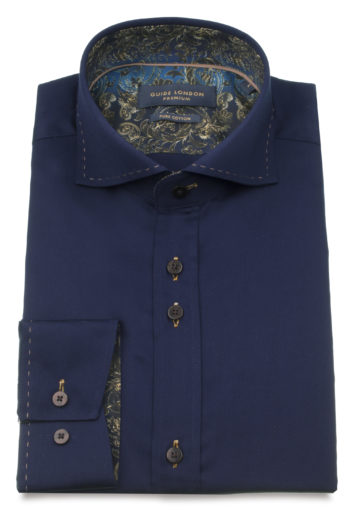 Guide London - LS74819 Shirt - Navy