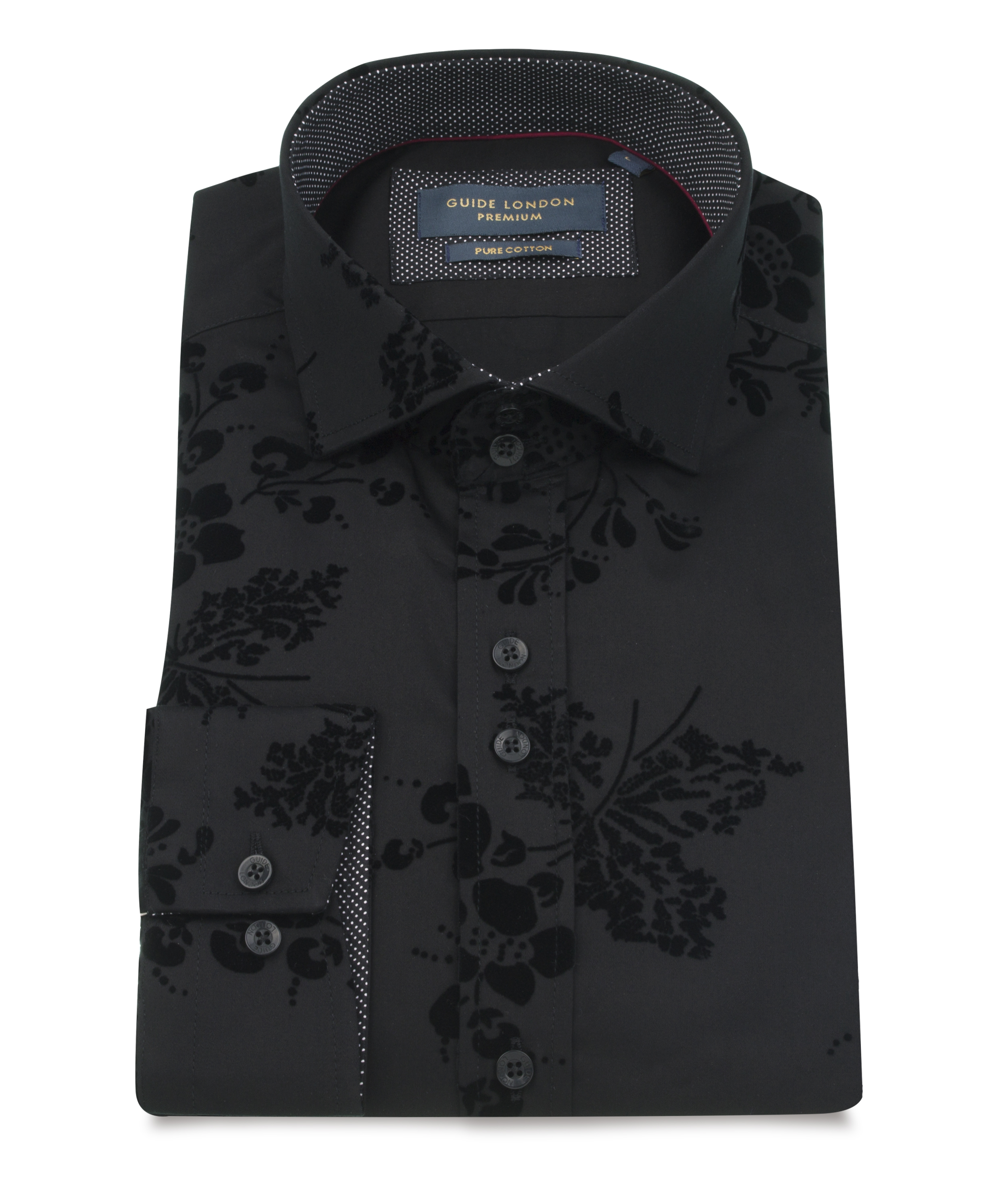 Guide London – LS74872 Shirt – Black