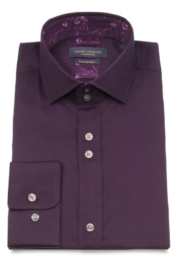 Guide London - LS74910 Shirt - Plum