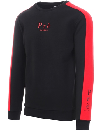 Pré London - Rich Crew Sweat - Black/Red
