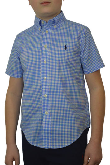 Ralph Lauren - SS Gingham Check Shirt - Blue