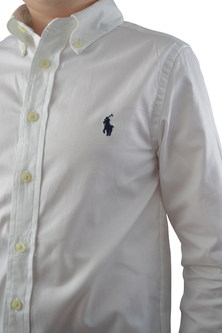 28ad2ccbe95 Home   Junior   Shirts   Ralph Lauren – Classic Long sleeve Shirt – White.  🔍. Previous. Next