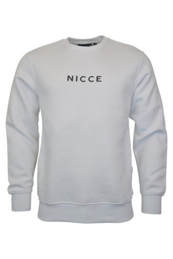 Nicce - Centre Logo Sweater - White