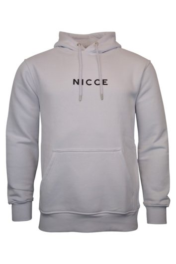 Nicce - Centre Logo Hoodie - White