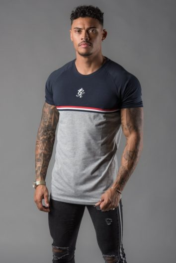 Gym King - Gilchrist T-Shirt - Navy/Grey