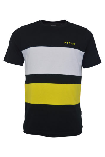 Nicce - Masli T-Shirt - Black/White/Yellow