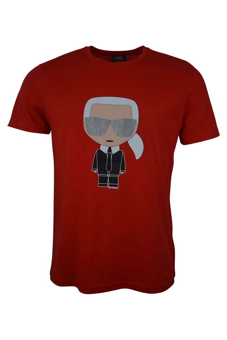 Karl Lagerfeld - Silver Glasses T-Shirt - Red