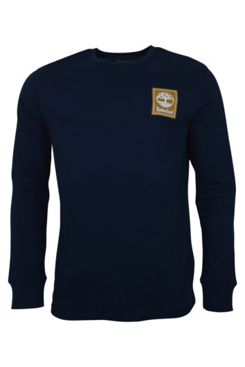 Timberland - Long Sleeve Stack Logo T-Shirt - Navy