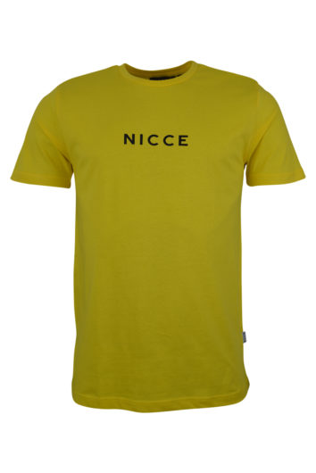 Nicce - Centre Logo T-Shirt - Yellow